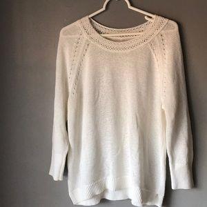 Loft white warm blouse